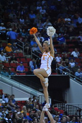 VOLUNTEER CHEERLEADER (SneakinDeacon) Tags: ut cheerleaders tennessee volunteers tournament sec ncaa minutemen umass a10 vols atlantic10 pncarena