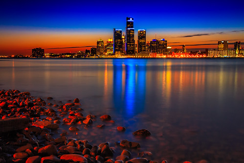 """Detroit by Night • <a style=""""font-size:0.8em;"""" href=""""http://www.flickr.com/photos/76866446@N07/13718494393/"""" target=""""_blank"""">View on Flickr</a>"""