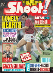 Shoot Magazine - 25/02/1989 - Cover Page (The Sky Strikers) Tags: magazine hearts shoot colours boots euro reid column win stoke officer loads survivors dibble gazzas