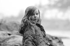 Rainy Day (Kathryn's Focus) Tags: portrait bw beach rain child westcoast