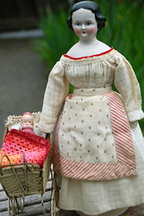 Dainty China Family (Emily1957) Tags: china light toy toys nikon doll dolls kitlens naturallight civilwar porcelain babycarriage nikond40 chinaheaddoll onebluestocking civilwarhairstyle
