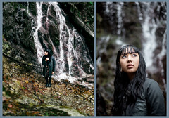 1/365 Kiaanna (photoshepherd) Tags: friends portrait water face female vancouver canon landscape 50mm waterfall bc personal bokeh f14 5d van plugs vancity brenizer markiii creaking explorebc
