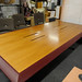 Cherry and leather boardroom table