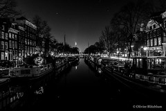 Amsterdam By Night (Olivier Blitzblum) Tags: street city travel blue light sunset 2 people bw 6 sun white 3 black beautiful amsterdam night dark t photography lights 1 three amazing raw colours purple photos 10 5 sony 4 tripod n streetphotography 7 8 9 s romance mount r e remote mm alpha ph a7 lightroom nex wonderfull a5000 mefoto a6000 a5100 mirorless