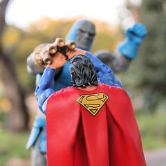 I will crush you Kal-El (jcmilone) Tags: toys outdoors florida superman actionfigures dccomics darkseid toyphotography outdoorphotography dcuniverseclassics