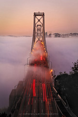 Magic Clouds (Andrew Louie Photography) Tags: sanfrancisco bridge winter coffee beauty fog clouds photography oakland bay san francisco view sfo unique magic january foggy jazz andrew east louie iconic epic rare