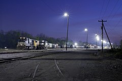 Early Morning Hours (Colin Dell) Tags: yard train georgia ns augusta freight norfolksouthern sd402 2584 sd70m ns2584