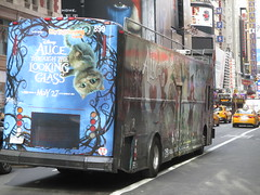 Alice Through the Looking Glass Bus Billboard 9152 (Brechtbug) Tags: street new york city nyc bus film glass cat movie tim looking cheshire near alice broadway lewis disney double billboard johnny billboards carroll through mad depp avenue wonderland 7th 42nd hatter burtons decker in 2016 05192016