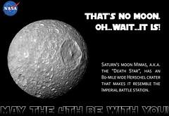 #MayThe4thBeWithYou - Death Star (NASA's Marshall Space Flight Center) Tags: starwars marshall nasa saturn deathstar mimas maythefourthbewithyou nasamarshall nasasmarshallspaceflightcenter