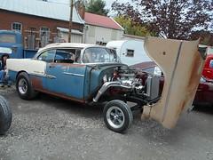 1955 Chevy Bel Air (splattergraphics) Tags: belair 1955 chevy carshow gasser dragcar sledfest duncannonpa tiltfront hooliganscarclub