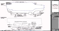 Which flight deck set-up? (dwight_ew) Tags: graphicdesign aircraftcarrier questions flightdeck adobeillustrator helicarrier comicbooktechnology periclesproject