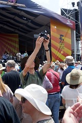 Awkward Selfie Technique (spinadelic) Tags: new music festival orleans south april nola jazzfest nawlins stevespencer 2016