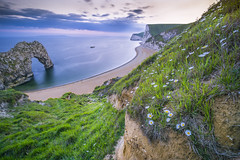 Quiescent (matthewpierzchala) Tags: door uk sunset seascape seaside vibrant sony calm dorset serene jurassic durdle 10mm durdledoor quiescent
