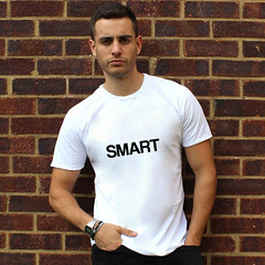 smart t-shirt (rethinkthingsltd) Tags: baby white smart children design kid diverse adult unique free tshirt parry pride southern lgbt statement strong local northern fit typographic able ilsa rethinkthings