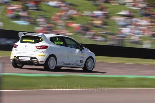 Mike Bushell in the Clio Cup during the BTCC Weekend at Thruxton, May 2016