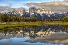 Moonlight Special (jrlarson67) Tags: longexposure mountains reflection water night clouds stars nationalpark grand landing teton schwabacher
