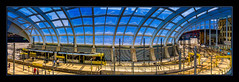 Manchester Victoria Station (Kevin From Manchester) Tags: england panorama building architecture manchester canal raw northwest outdoor colorfull widescreen panoramic railwaystation trams hdr victoriastation canon1855mm kevinwalker canon1100d