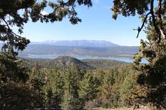 0093 View south over Big Bear Lake toward San Gorgonio Mountain from the PCT (_JFR_) Tags: camping hiking backpacking pacificcresttrail pct bigbear bigbearlake sanbernardinonationalforest sangorgoniomountain