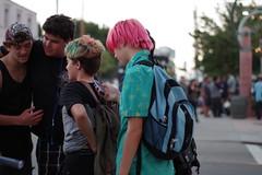 School Is Out For Summer ! (Joey Z1) Tags: streetscene urbanlife dyedhair urbanscene trendyhair schoolisout lifeinthestreet lalife lifeinlosangeles universitykids streetscenela firstthursdaysanpedro laasseenbyjoeyz1 bylaphotolaureatejoeyzanotti jrhipsters