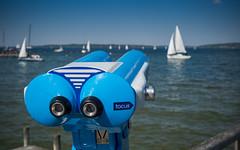 Focus here (Ulmi81) Tags: lake water bayern boot see boat focus wasser sailing may olympus mai ft ammersee zuiko schiff segeln segelboot fernglas omd fernrohr fokus em1 2016 diesen 1454