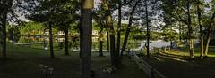 7 AM on Budd Lake, Michigan (TAC.Photography) Tags: panorama lake reflections lakeside resort earlylight buddlake michiganlakes