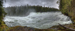 Dawson Falls from the side (John Payzant) Tags: park panorama canada bc gray wells hdr wellsgray