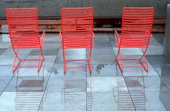 Day 086/365 - Red Chair (Great Beyond) Tags: red wet 50mm march chair chairs cement slide slidefilm patio 35mmfilm fujifilm 365 slides e6 3000v canonrebelti patiofurniture redchairs 2016 canonef50mmf14usm fujiprovia100f fujichromeprovia100f project365 canoneosrebelti colorreversal canoneosrebel3000v march2016