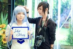 Me & Kafuu chino (Nhp xinh trai siu cp !) Tags: cosplay kafuu chino gochuumon wa usagi desu ka cute japan vietnam china selfie it me mi shen boy with girl indoor fan sign canon 5d mark ii kawaii