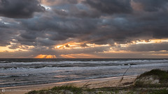 Roll on October ... (Gill_R) Tags: sky beach clouds sunrise coast florida shore rays staugustine