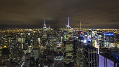 Empire State Building viewed from the top of Rockefeller Center (rafaelpuerto) Tags: nyc longexposure newyork empirestatebuilding rockefeller 1018 longexpo 1018mm rafaelpuerto
