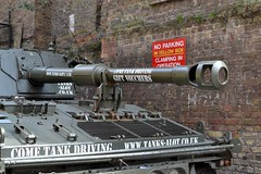 2016-05-07: Tank Parking (psyxjaw) Tags: london angel clamp war tank advert parked paintball islington clamping londonist