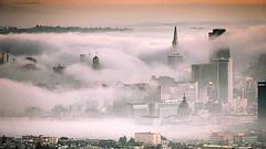 Fog City (davidyuweb) Tags: city fog san francisco low twin peaks sfist lowfog luckysnapshot