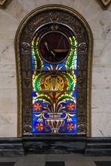 Novoslobodskaya - Glasmalerei (swissgoldeneagle) Tags: metro russia moscow stainedglass ubahn glasmalerei ru moskau novoslobodskaya moskva  russland rx100 nowoslobodskaja  rx100m4