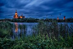 stralsund, st mary's church, Germany (dleiva) Tags: sunset lake architecture sunrise germany landscape domingo hdr stralsund pomerania leiva dleiva