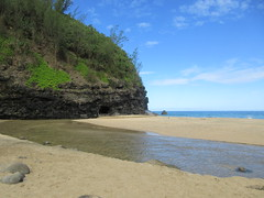 Hanakapiai Beach: 2 miles in on the Kalalua Trail (Tropics Girl) Tags: napalicoast kauaii kalalau hiking hawaii