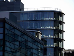 The Fashion of Glass and Steel (kanotpic) Tags: windows shadow tower art glass monochrome lines architecture skyscraper design pattern shadows steel patterns curves structure architektur dsseldorf windowblinds schatten fineartphotography coolliving urbanharbour