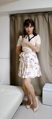DSC07260 (mimo-momo) Tags: japanese feminine crossdressing transvestite crossdresser crossdress flareskirt floralskirt