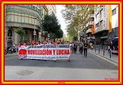 Barcelona Protest (vicbrasil) Tags: barcelona madrid people men children spain women bilbao zaragoza santiagodecompostela montserrat oviedo sansebastian pamplona santillanadelmar