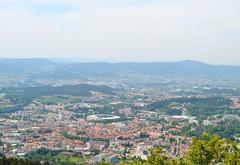 view of Guimares (ekelly80) Tags: portugal penha june2016 summer braga minho mountain view lookdown below city town guimares stadium sky
