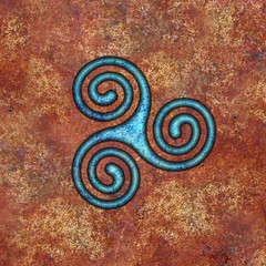 spiral (chrisinplymouth) Tags: spirality art pattern design spiral image whorl coil abstract cw69x artwork square symmetry curl triskele cw69sym symbol triskelion triplespiral celticspiral celtic rust trisquel geometric geometry cw69spiral