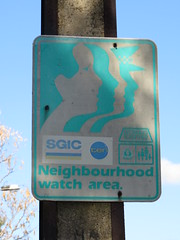 Old, weathered 1980s/90 Neighbourhood Watch sign (RS 1990) Tags: old sign july ten adelaide weathered friday 1980s southaustralia 1990s 8th 2016 mitchellpark neighbourhoodwatch marionrd sgic