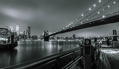 Dark night ( Esther ) Tags: street new york city nyc travel bridge blue light summer sky urban usa ny building art water skyline architecture brooklyn night america canon river dark lights long exposure cityscape angle manhattan wide calm