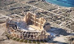 Ancient Rome. Sabratha Theatre, Africa Proconsularis (Libya), World Heritage Site (mike catalonian) Tags: africa theatre worldheritagesite libya ancientrome sabratha africaproconsularis