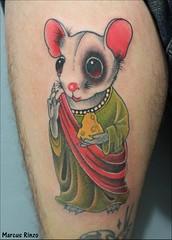 Ratinho (RinzoTattoo) Tags: tattoo mouse rato monje tatuagem ratinho tatuagens tatuagio mousetattoo rinzotattoo tattooemsbc tatuagememsbc melhortatuador melhorestdiosbc tattooneotradicional ratotattoo tattoomouse