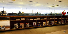 Magazine rack (A. Wee) Tags: toronto canada magazine airport lounge shelf mapleleaf yyz aircanada
