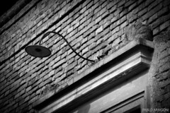 Lantern without lamp (Pablo Arrigoni) Tags: old bw white house black brick ladrillo blanco argentina argentine facade canon eos casa arquitectura bricks bn lantern farol viejo fachada ladrillos arquitecture architech 18135 ladr 70d eos70d