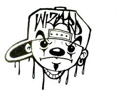 graffiti sticker clown (marcomacedo3) Tags: cholowiz wizards graffiti characters stickers collabs slaps nazer26 mtsk skulls clowns street art paste trade cartoons labels sketch spray can