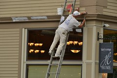 Precarious painter (Don's View) Tags: painting ladder painters