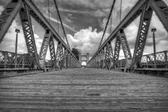 Waco Bridge Lumix GM1 B&W (rrunnertexas) Tags: lumix gm1 waco texas bridge bw black white kit lens wideanglewide angle