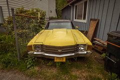 Yellow Chevrolet, Ketchikan Alaska (Lee Edwin Coursey) Tags: 2016 alaska chevrolet chevy ketchikan uncruise unitedstates adventure car cruise landscape nature town travel urban yellow